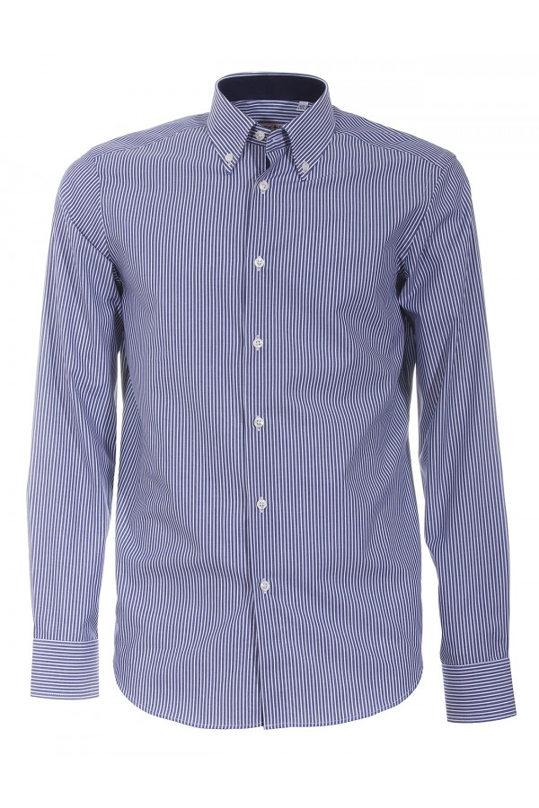 Shirt Canottieri Portofino 021 slim fit Man blue-white