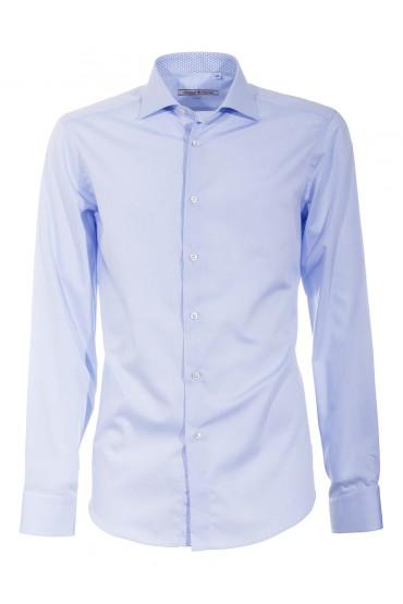 Camicia Canottieri Portofino 002 slim fit Uomo azzurro