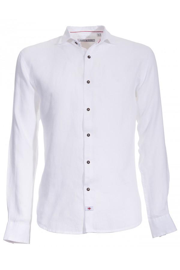 Camicia Canottieri Portofino lino croce bianco