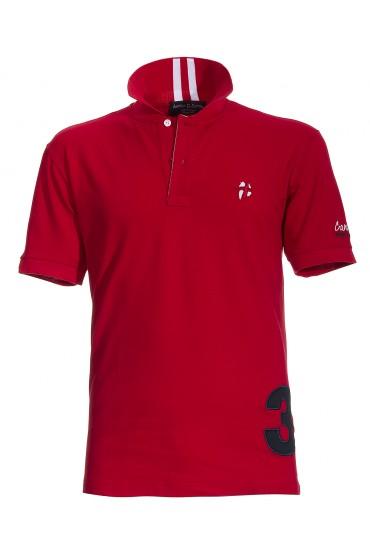 Polo Canottieri Portofino 140 Coach with number Man red