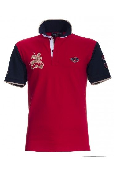 Polo Canottieri Portofino 120 Gold 3 Man red