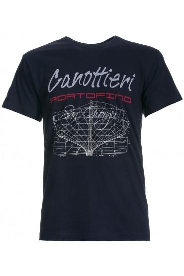 T-shirt Canottieri Portofino Prua Man blue