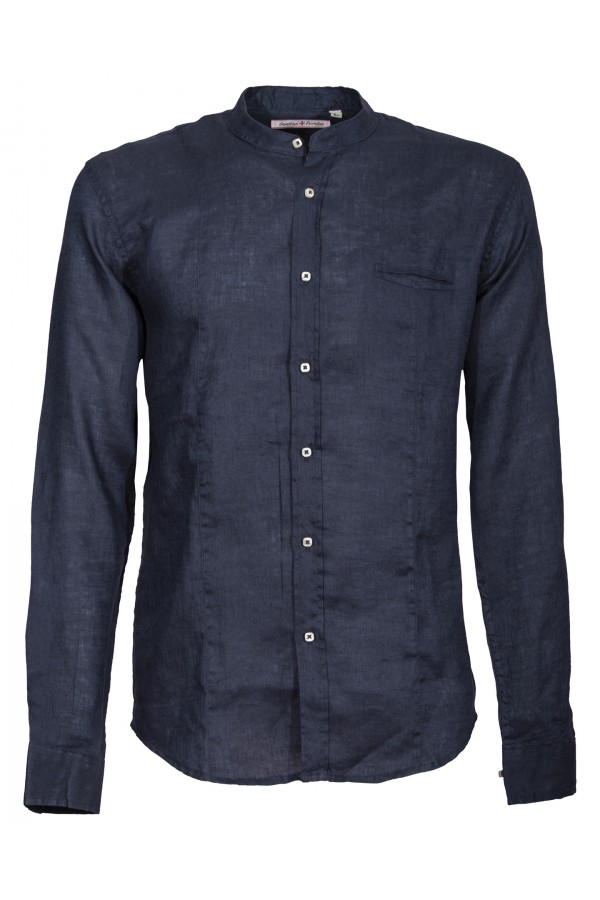 Shirt Canottieri Portofino Korean neck Man blue