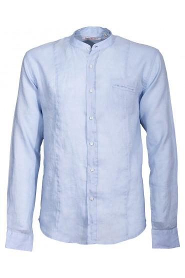 Camicia Canottieri Portofino alla coreana Uomo azzurro