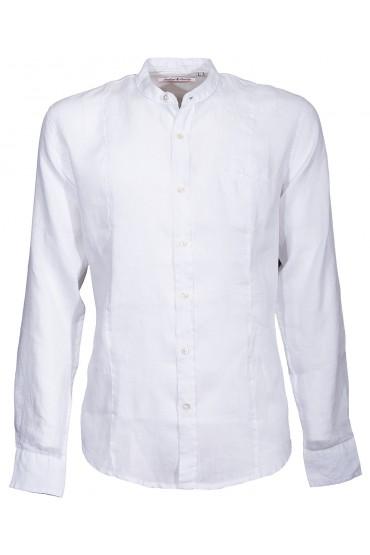 Chemise Canottieri Portofino col mandarin avec armes Homme blanc
