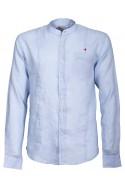 Camicia Canottieri Portofino alla coreana con logo Uomo azzurro