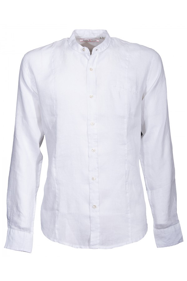 Chemise Canottieri Portofino col mandarin avec logo Homme blanc