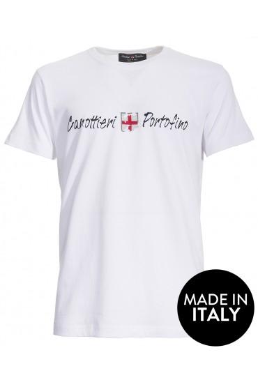 T-shirt Canottieri Portofino Logo Homme blanc