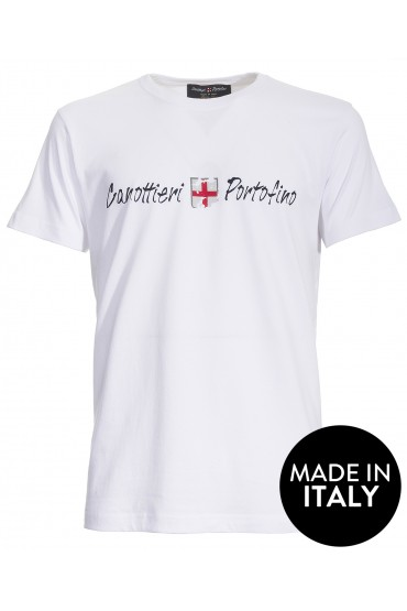 T-shirt Canottieri Portofino Logo Uomo bianco