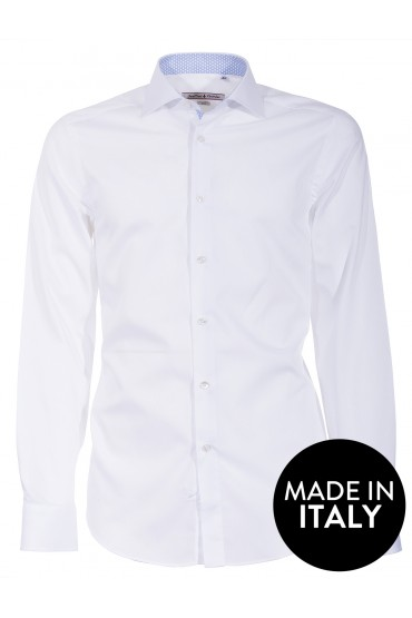 Camicia Canottieri Portofino 002 slim fit Uomo bianco