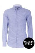 Camicia Canottieri Portofino A05 slim fit Uomo bianco-azzurro