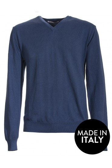 Pullover Canottieri Portofino V neck Man light blue