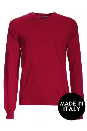 Pullover Canottieri Portofino V neck Man red