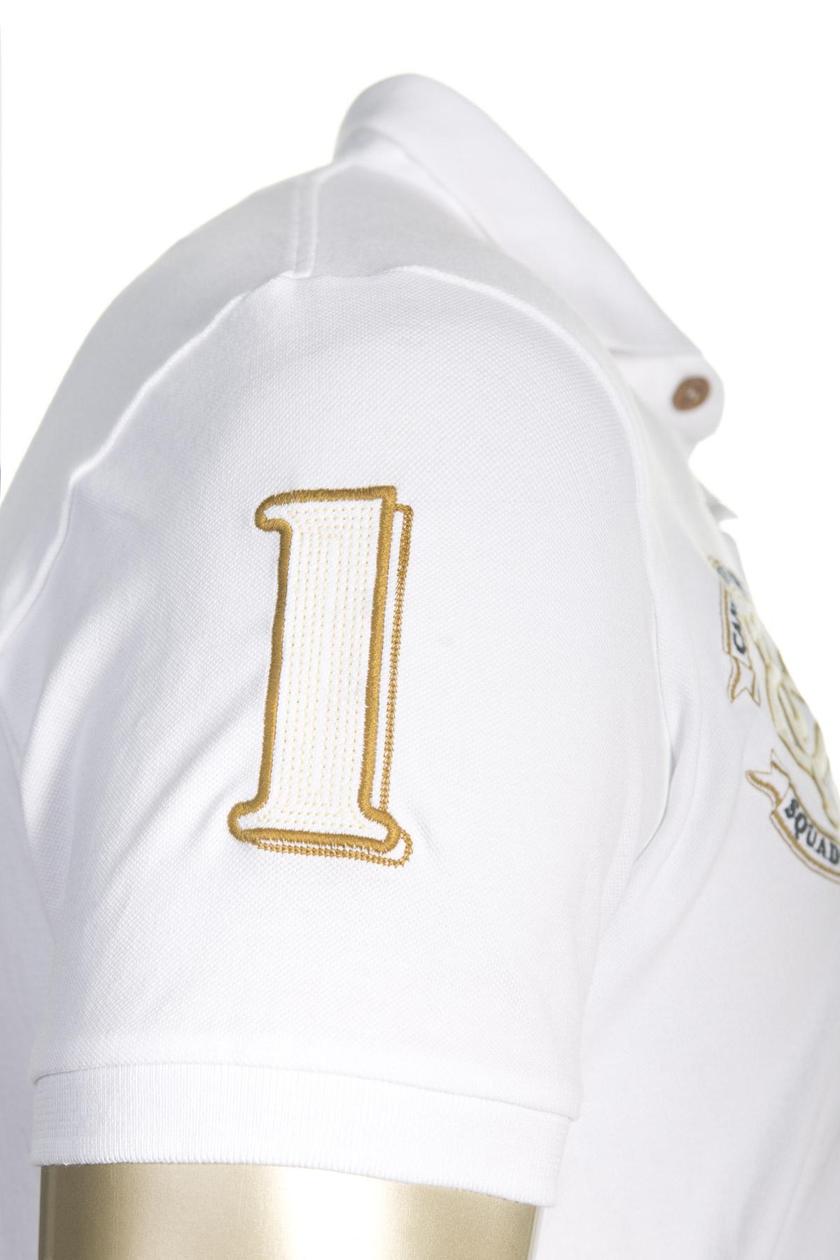 Luca Betti indossa polo in piqué di cotone Giro di Boa - Polo Uomo - Canottieri Portofino
