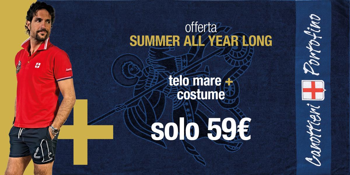 Acquista entro entro il 19 luglio un telo mare e un costume, spendi solo 89€