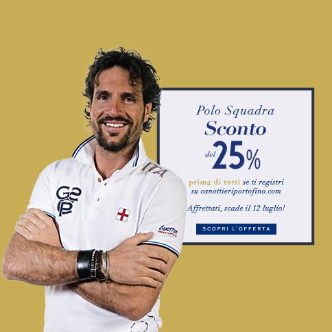 Le polo ufficiali del team Canottieri Portofino con il 25% di sconto se ti registri entro il 12 luglio