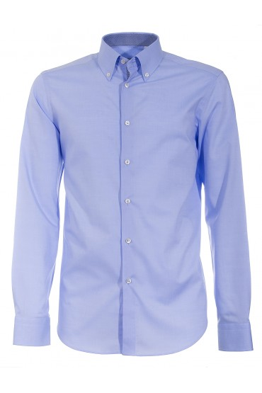 Shirt Canottieri Portofino 105 slim fit Man light blue
