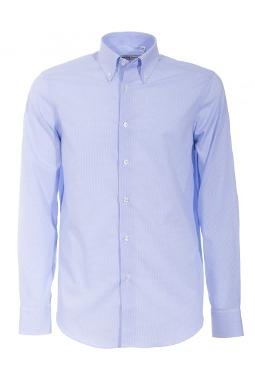 Shirt Canottieri Portofino 022 slim fit Man light blue