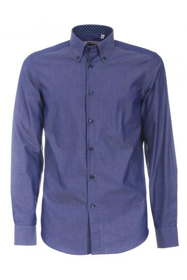 Camicia Canottieri Portofino 021 slim fit Uomo blu