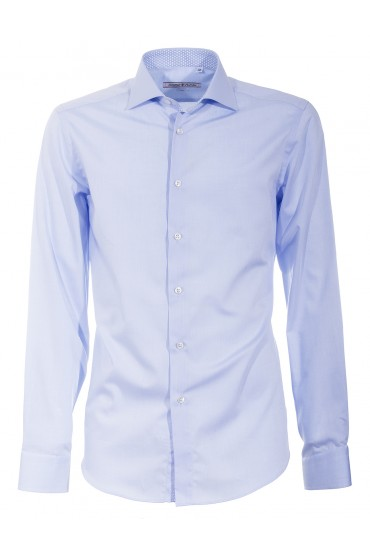 Shirt Canottieri Portofino 002 slim fit Man light blue
