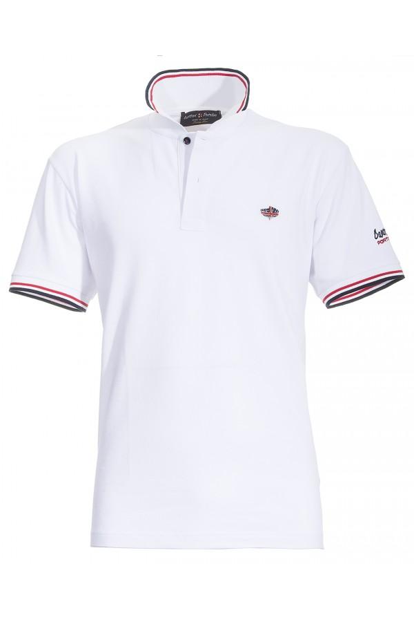 Polo Canottieri Portofino 100 Logo Homme blanc
