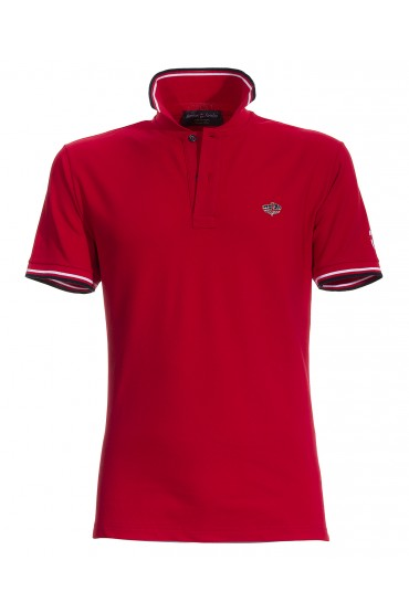 Polo Canottieri Portofino 100 Cross Man red