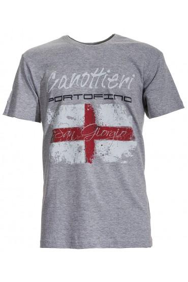T-shirt Canottieri Portofino Genova Homme gris