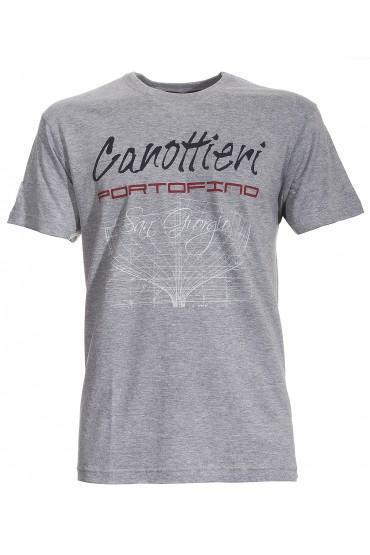 T-shirt Canottieri Portofino Prua Homme gris