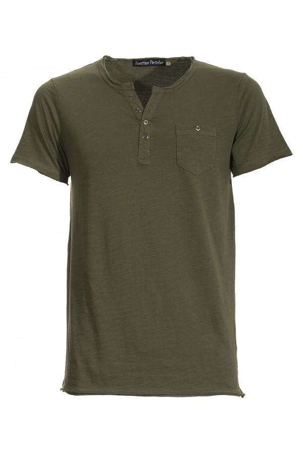 T-shirt Canottieri Portofino avec boutons Homme vert
