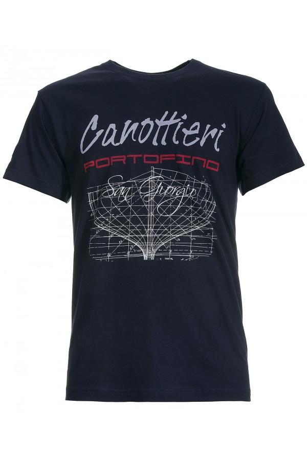 T-shirt Canottieri Portofino Prua Uomo blu