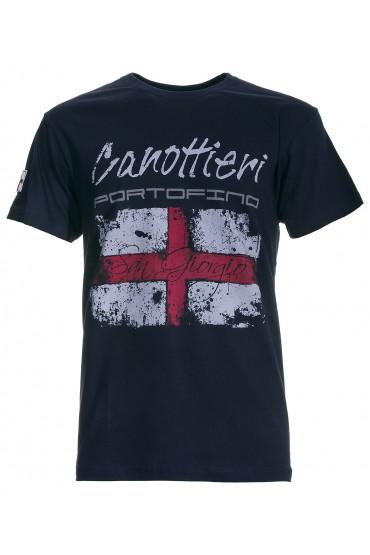 T-shirt Canottieri Portofino Genova Homme bleu