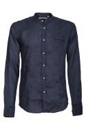 Shirt Canottieri Portofino Korean neck Man blue